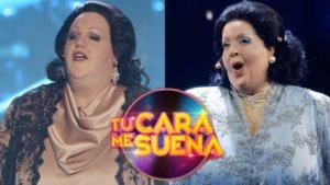 Daniel Diges y Ruth Lorenzo imitando a Montserrat Caballé en 'Tu cara me suena'.