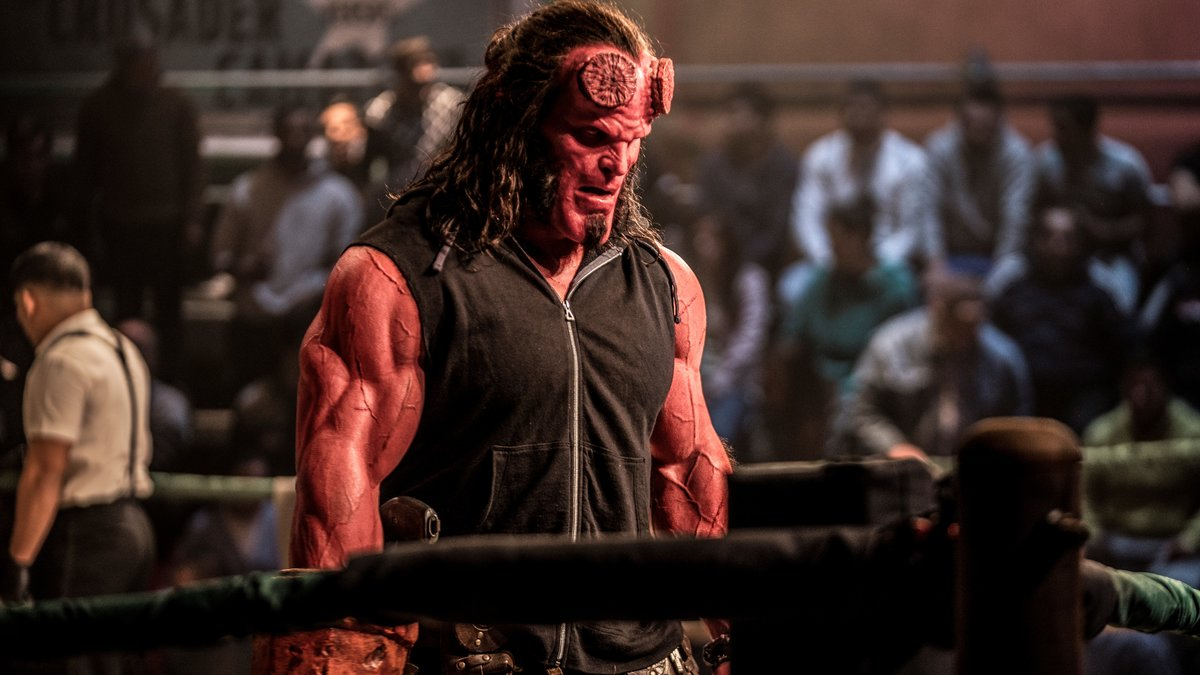 David Harbour, en un fotograma de 'Hellboy'