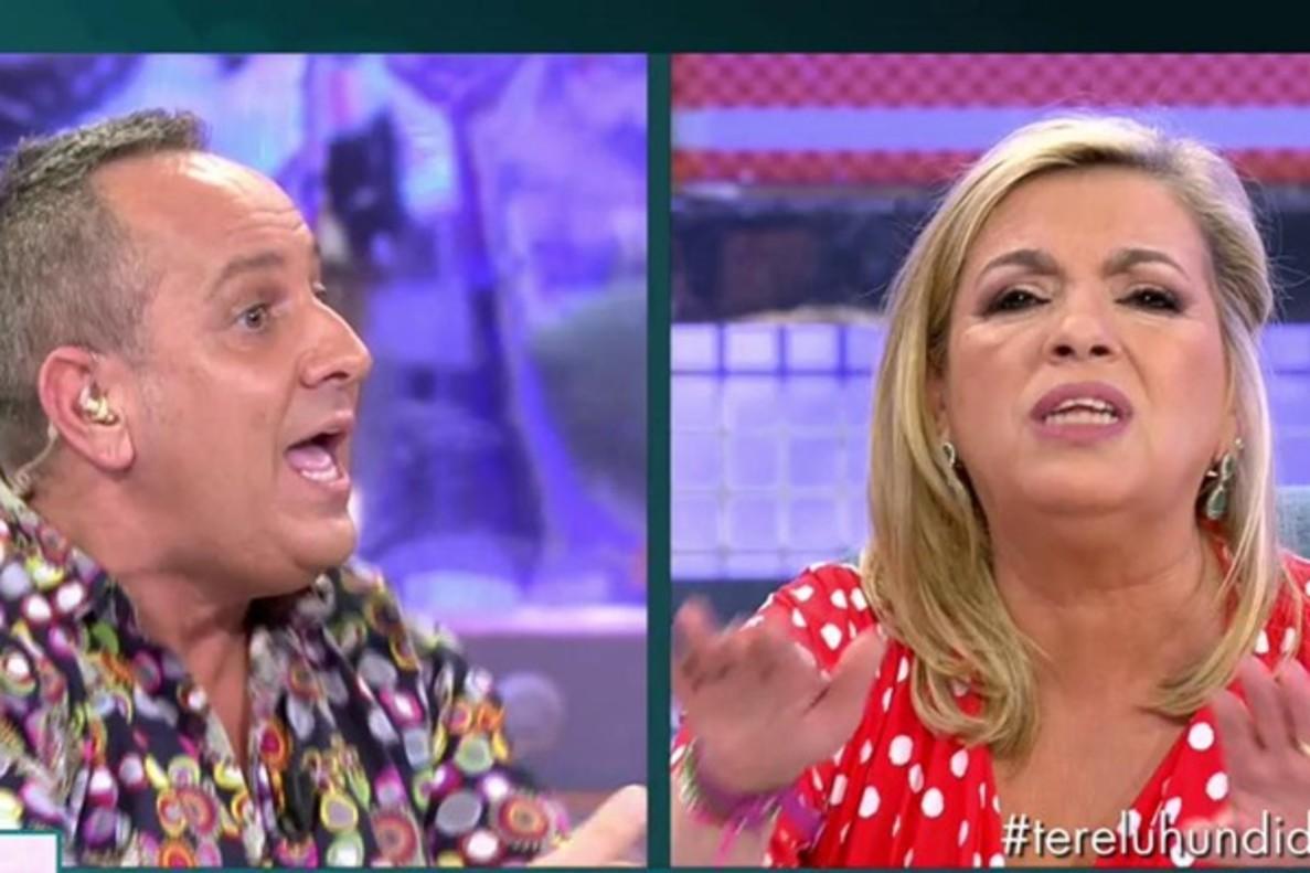 """Enfrentamiento entre Carmen Borrego y Víctor Sandoval por Terelu: """"Yo la odiaba profundamente"""""""