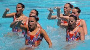 El equipo español de sincronizada que se ha quedado fuera de los Juegos Olímpicos.