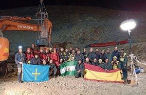 El equipo que ha participado en el operativo de rescate del niño Julen.