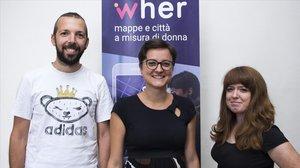 El equipo de la start-up Wher.