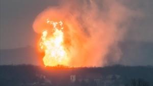 La explosiónse ha producido este martes en la planta de distribución de gas de Baumgarten.