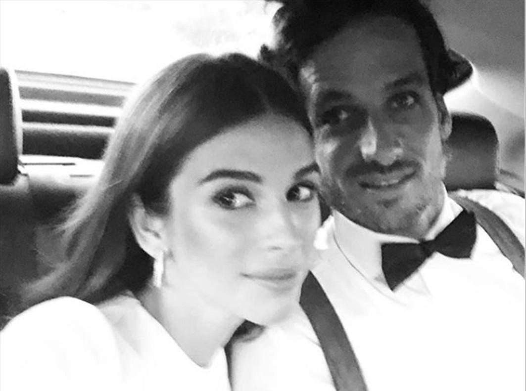 Feliciano López y Sandra Gago posan por primera vez en público, en la fiesta de 'Vogue'.