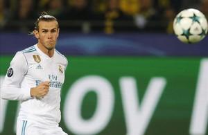 Gareth Bale en un partido de Champions League frente al Borussia Dortmund