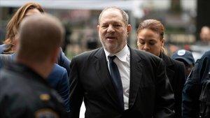 Harvey Weinstein, a su llegada al juzgado.