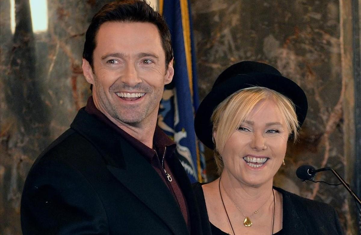 Una imagen de arcgivo de Hugh Jackman y su mujer, la también actriz Deborra-lee Furness.