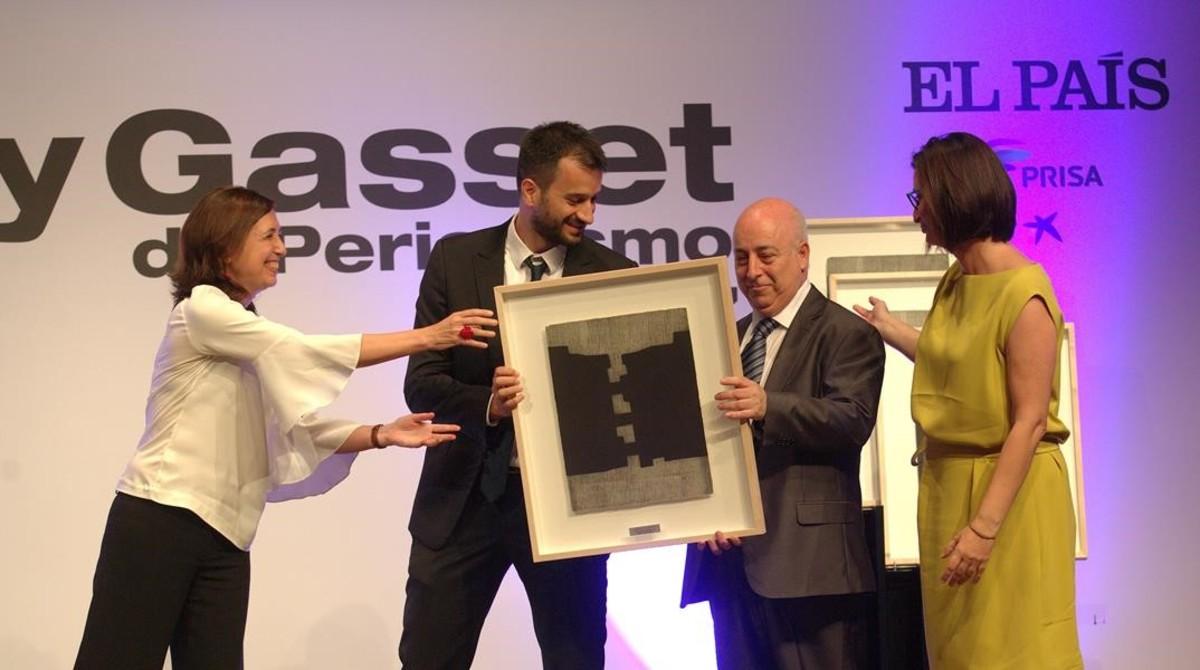 Los periodistas Guillem Sànchez,Jesús G. Albalat yMaría Jesús Ibáñez, reciben elpremioOrtega y Gasset.