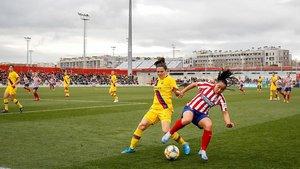 Imagen del Atlético-Barça de la Supercopa de España femenina disputada en febrero.
