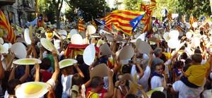 Imagen de una manifestación de la ANC en el paseo de Sant Joan de Barcelona.