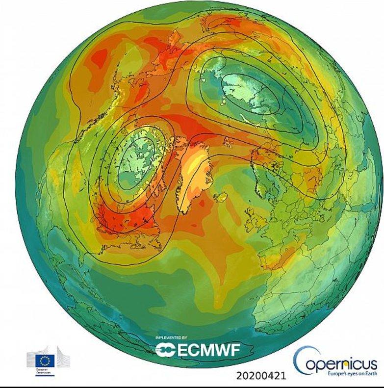 El vórtice polar dividido y debilitado ha permitido el cierre del agujero de ozono.