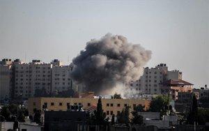 Bombardeos en la franja de Gaza e Israel.