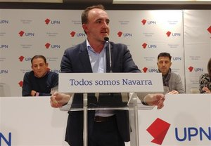 El candidato de Navarra Suma a la Presidencia del Gobierno foral y líder de UPN, Javier Esparza.