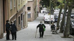 Una pandémica mañana de octubre en el Turó de la Peira.