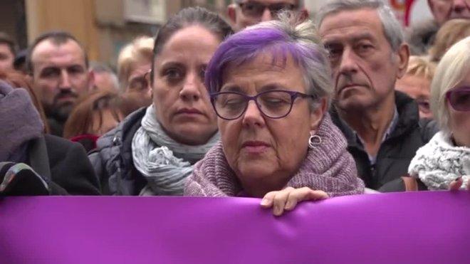 Minuto de silencio en Terrassa por el asesinato de Judit.
