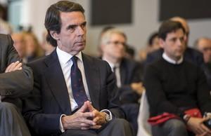 José María Aznar, en la clausura de un foro de la FAES en València