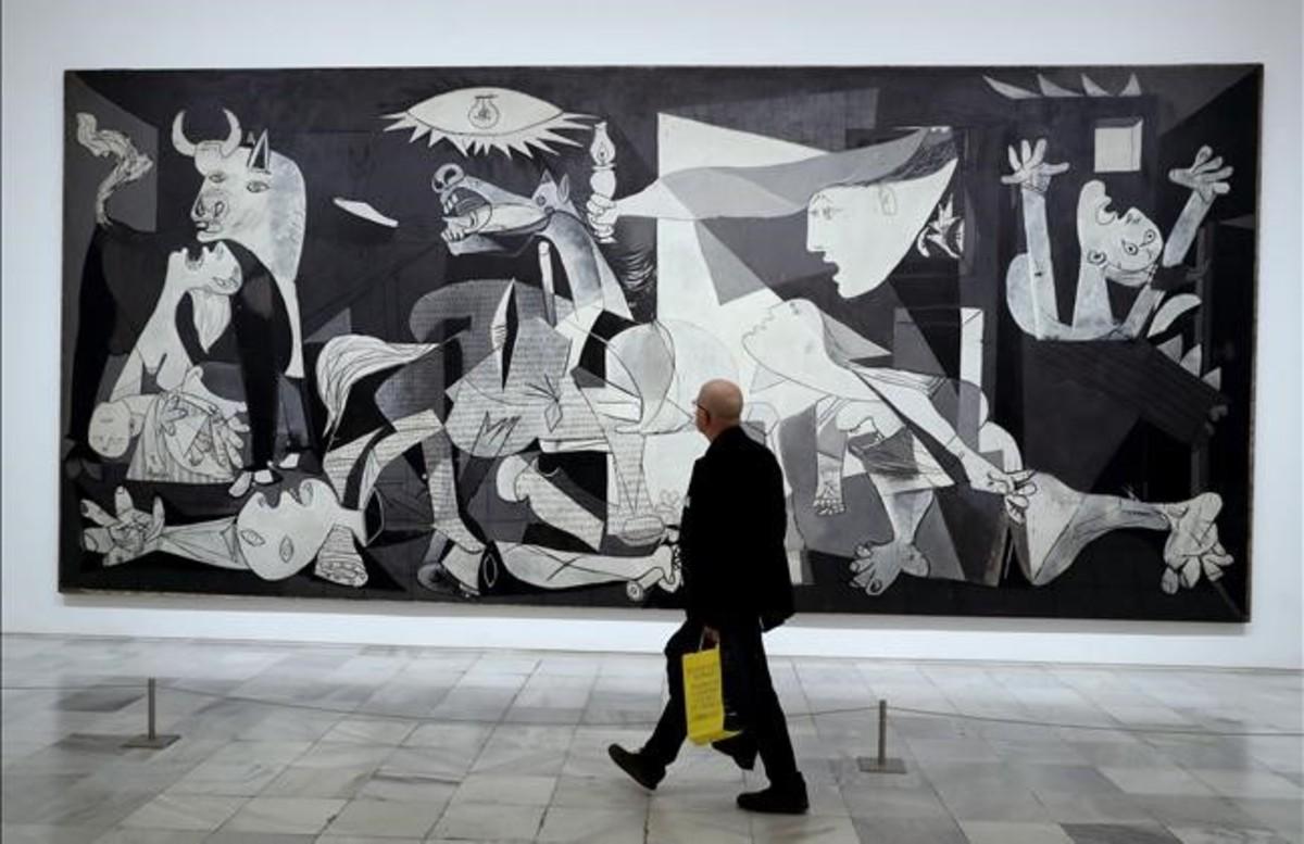 El 'Guernica' expuesto en el Museo Reina Sofía de Madrid.