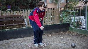 La jugadora de petanca Victoria Patón.