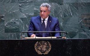 El presidente de Ecuador, Lenín Moreno, en la Asamblea General de la ONU.