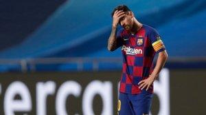 Leo Messi, cabizbajo, en un momento del partido contra el Bayern en Lisboa, el pasado 14 de agosto.