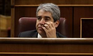 El líder de Democràcia i Llibertat en el Congreso, Francesc Homs, en el debate de investidura de Pedro Sánchez.