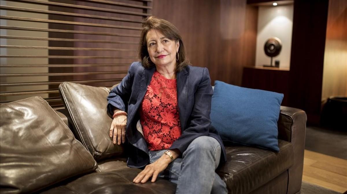 La periodista y escritora Pepa Roma, fotografiada en el hotel Regina.
