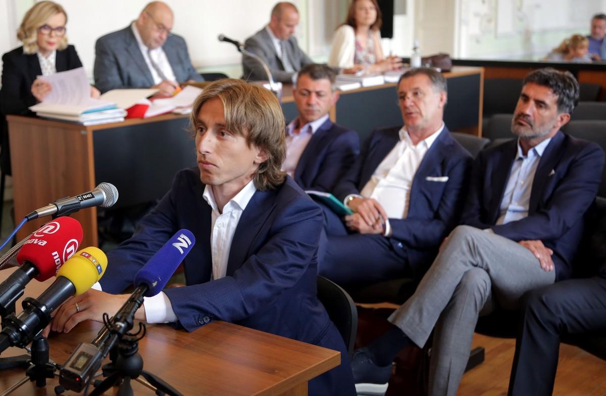 Luka Modric, durante su declaración en el juicio.