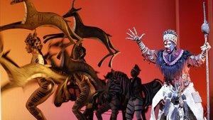 Una escena de 'El Rey León' en el Teatro Lope de Vega de Madrid