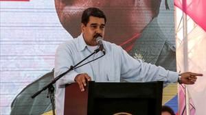 Maduro, en un acto en Caracas, el 27 de abril.