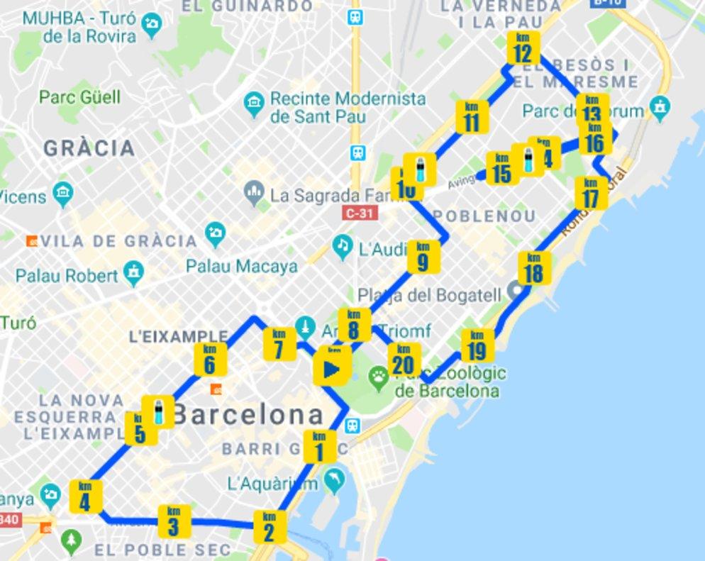 Media Maraton Barcelona 2020 Recorrido Trafico Y Transporte Publico