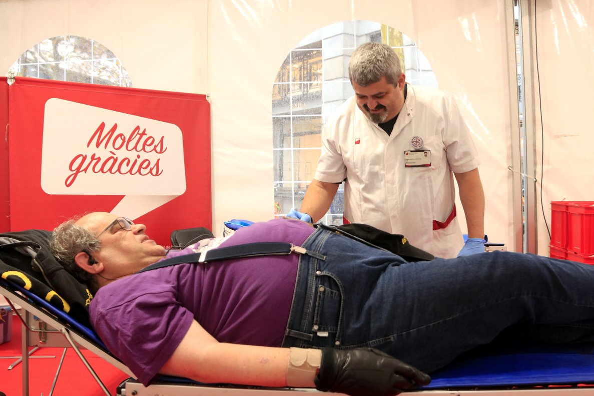Maratón de donaciones de sangre en Catalunya.