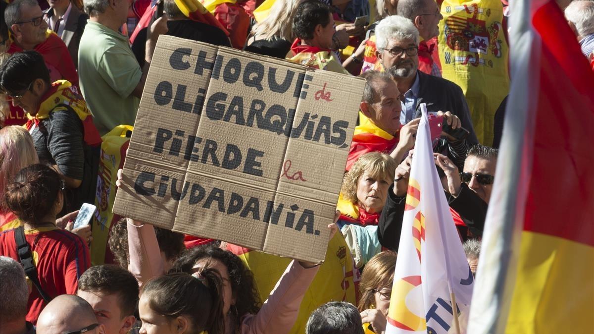 Marcha por la unidad de Societat Civil Catalana.