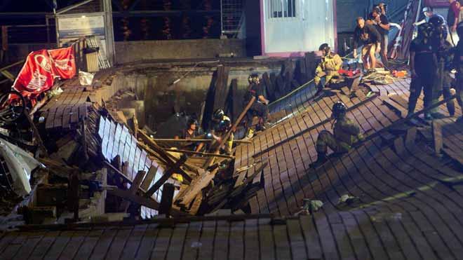 Más de 200 heridos tras desplomarse una plataforma durante un concierto en Vigo.