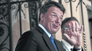 Matteo Renzi, a su llegada a una reunión en Milán, el 27 de junio.