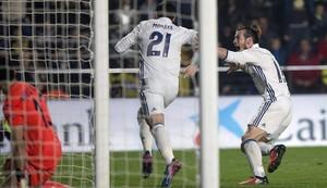 Morata celebra su gol ante el Villarreal