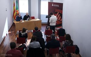 Roda de premsa a lAjuntament de Parets del Vallès.