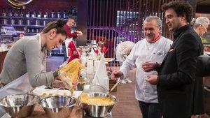 Pepe Rodríguez con Paco Torreblanca en las cocinas de Masterchef.