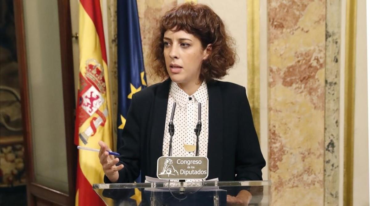 Alexandra Fernández, portavoz de En Marea en el Congreso de los Diputados.