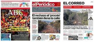 Prensa de hoy: Las portadas de los periódicos del lunes 28 de octubre de 2019