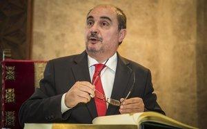 El presidente de la Diputación General de Aragón, Javier Lambán.