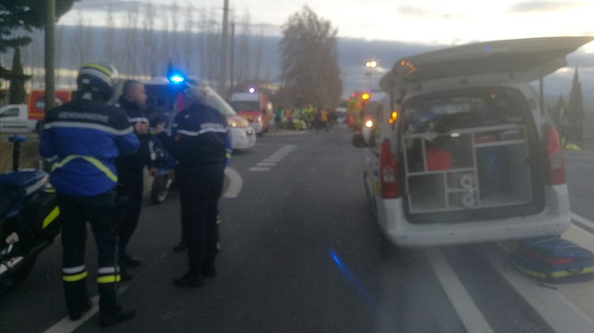 Primeras imágenes del accidente de tren en Perpinyà.