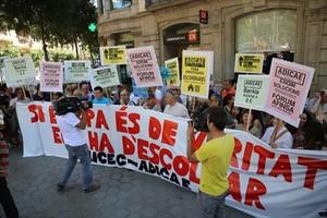 Protesta de afectados por las preferentes y las cláusulas suelos hipotecarias, en el 2013.