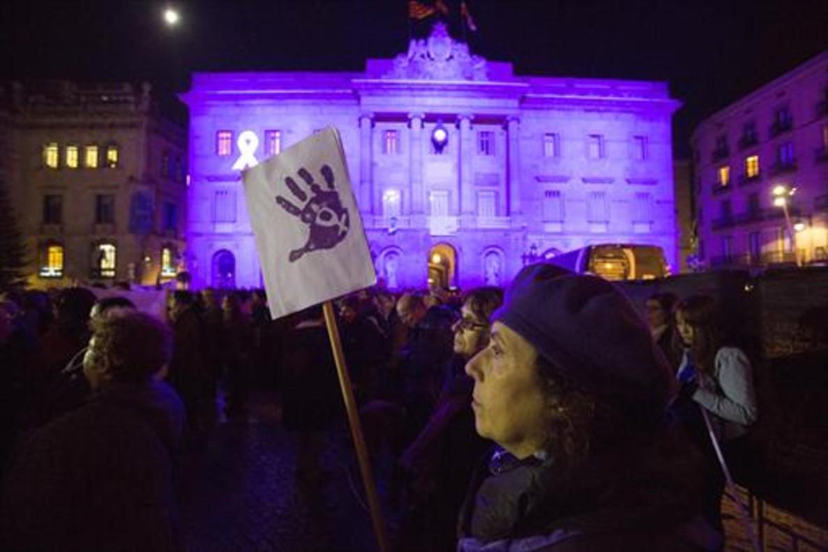 Protesta contra la violencia machista, el pasado noviembre, en Barcelona.