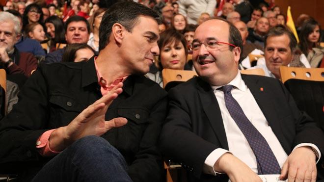 Sánchez ha afirmado este miércoles en San Sebastián que los independentistas catalanes están 'vetando la convivencia y la concordia en Catalunya' al rechazar la designación del socialista Miquel Iceta como senador autonómico.