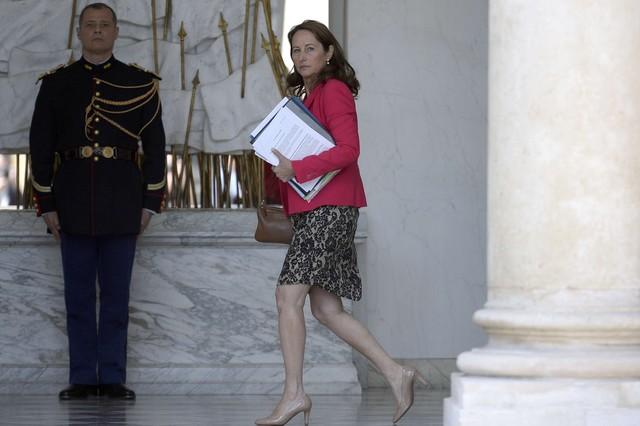 Ségolène Royal, la ministra francesa de Ecología, hoy, en el Elíseo.