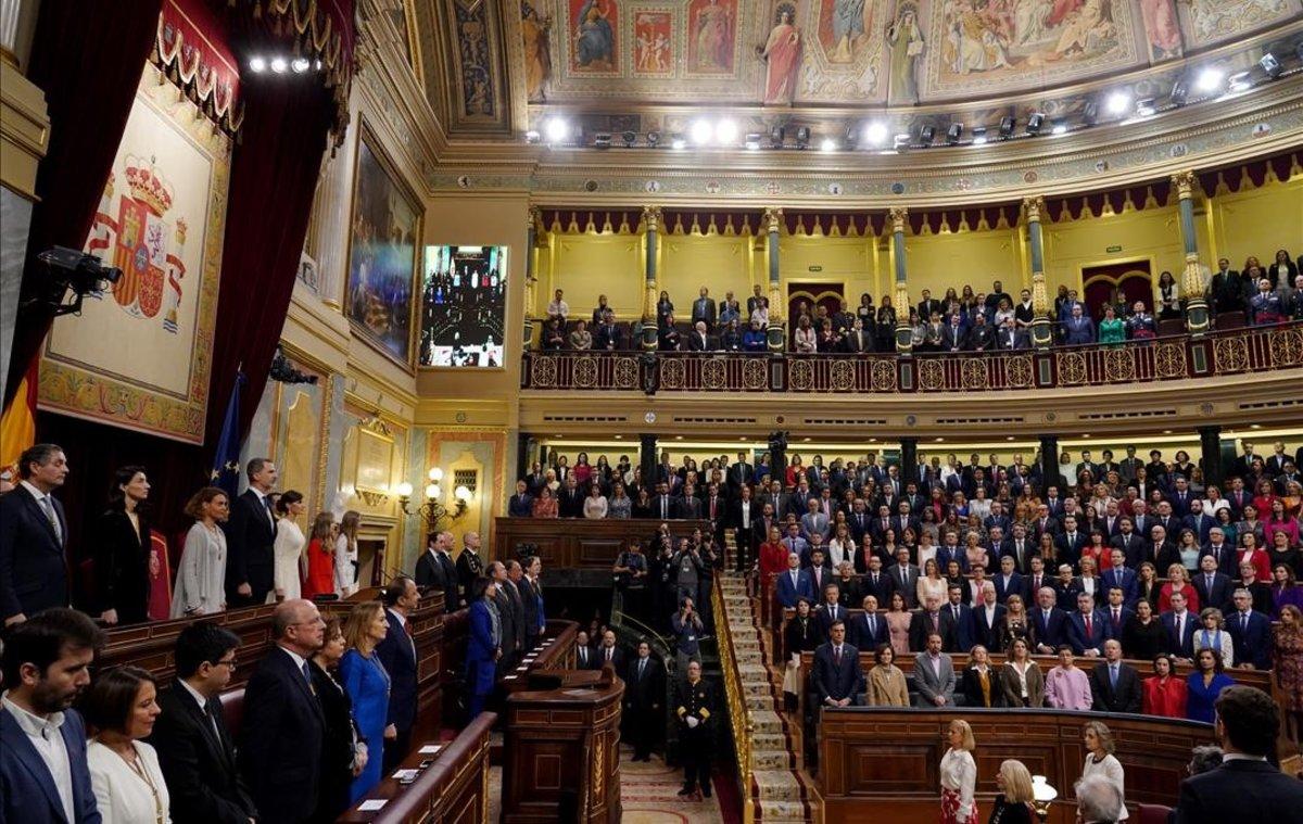 Sesión de apertura de la XIV legislatura en el Congreso, el pasado lunes.