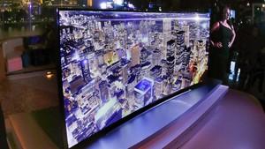 Presentación de un televisor de ultra alta definición (UHD), o 4K, en la International Consumer Electronics Show, en Las Vegas (EEUU).