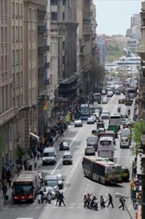 La Via Laietana sufrirá mejoras en sus aceras este verano.
