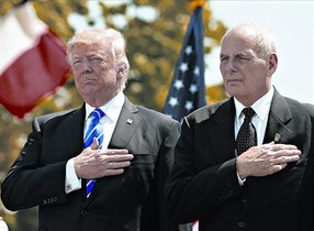 Trump y Kelly, el pasado mes de mayo, en un acto en New Londond (Connecticut).