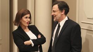 Agnès Busquets y Queco Novell, en la serie de humor de TV-3 Polònia.